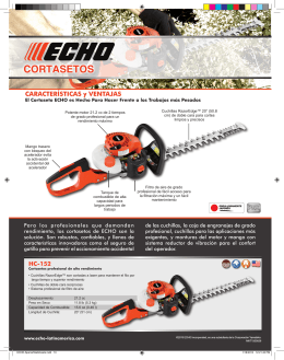 Folleto Cortasetos ECHO 2013