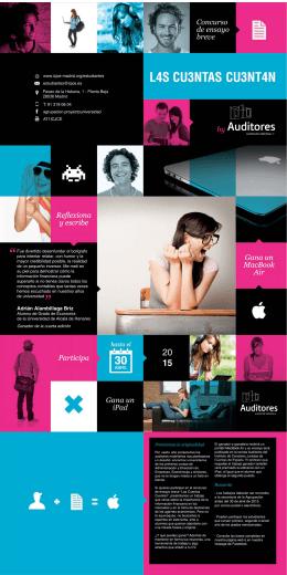 Folleto concurso Las Cuentas Cuentan 2015