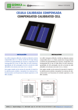 9737 0155 Model CCAL, Calibrated Solar Cell (ES, EN) (196 Kb.)