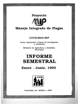 VINFORME SEMESTRAL - Repositorio Institucional CATIE