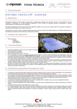 FT TENNISLIFE CUSHION - innovarte sport . pistas de padel