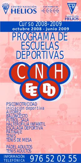 Folleto Escuelas Deportivas 08