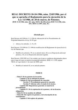 Real Decreto 2245/1986, de 10 de Octubre, por el que se aprueba