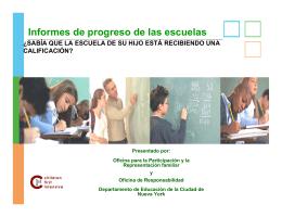 Informes de progreso de las escuelas