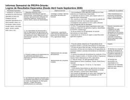Informe de progreso del Proyecto 2009 sep