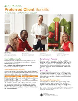Preferred Client Benefits