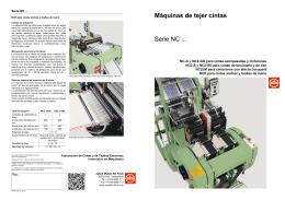 Máquinas de tejer cintas Serie NC