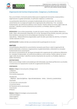 Organización de Eventos Empresariales: Congresos y