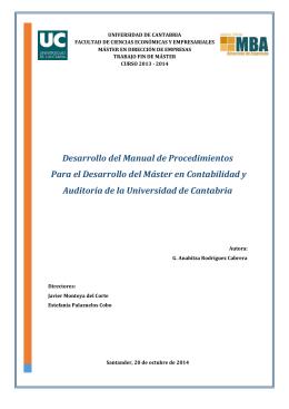Desarrollo del Manual de Procedimientos Para el Desarrollo del