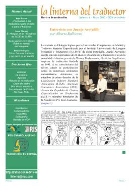 Entrevista a Juanjo Arevalillo - La linterna del traductor