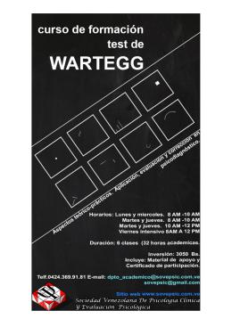 Curso Formación de Test de Wartegg