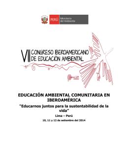 educación ambiental comunitaria en iberoamérica