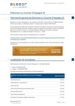Ediciones Le Courrier D`espagne Sl