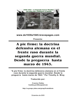 la doctrina defensiva alemana en el frente ruso durante - 1939-1945