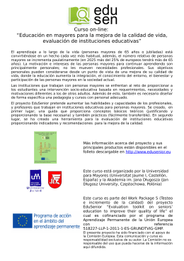 Curso on-line - EduSenior