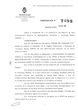 Disposición 7498 - 13