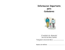 Informacion Importante para Cuidadores