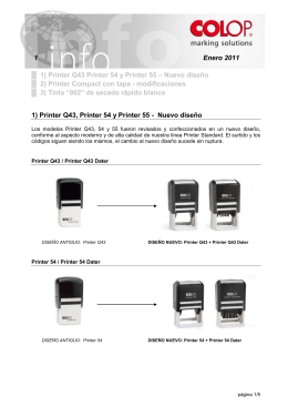 1) Printer Q43 Printer 54 y Printer 55 – Nuevo diseño 2) Printer
