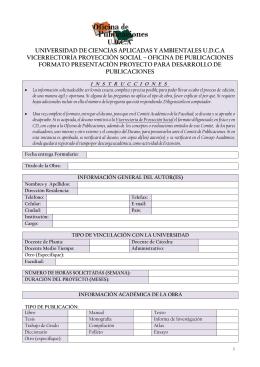 Formato presentación proyectos publicación