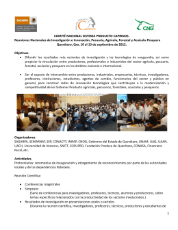 Reuniones Nacionales de Investigación e Innovación