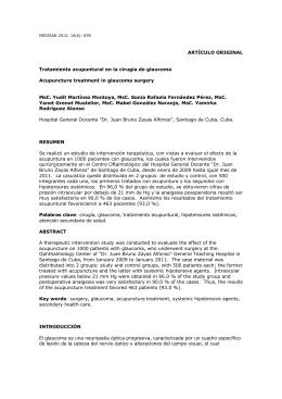 Tratamiento acupuntural en la cirugía de glaucoma
