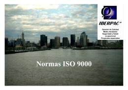 Las normas ISO 9000 - Alejandro Gonzalez y Asociados