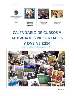 calendario de cursos y actividades presenciales y online 2014