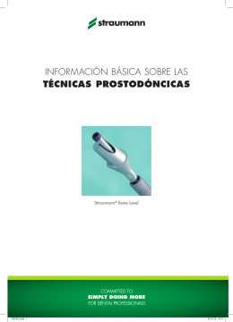 información básica sobre las técnicas prostodóncicas