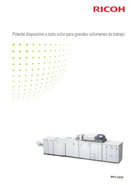 Potente dispositivo a todo color para grandes volúmenes de trabajo
