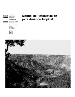 Manual de Reforestación para América Tropical. USDA