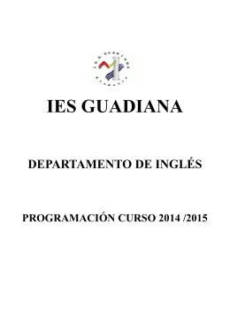 programación del departamento 2014/2015