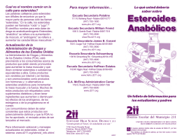 Esteroides Anabólicos - Township High School District 211