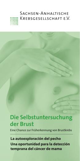 Die Selbstuntersuchung der Brust - krebsgesellschaft