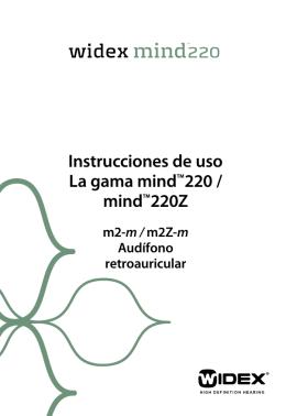 Instrucciones de uso La gama mindTM220 / mindTM220Z