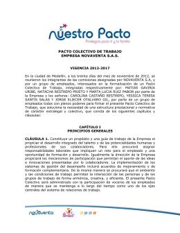 PACTO COLECTIVO DE TRABAJO EMPRESA NOVAVENTA S.A.S.