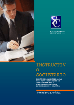 Instructivo Societario - Chilexporta Servicios