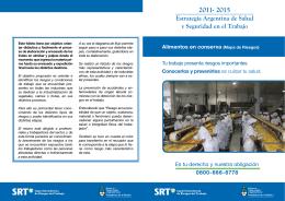 Estrategia Argentina de Salud y Seguridad en el Trabajo 2011