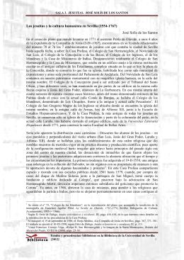 SALA 3. JESUITAS. JOSÉ SOLÍS DE LOS SANTOS