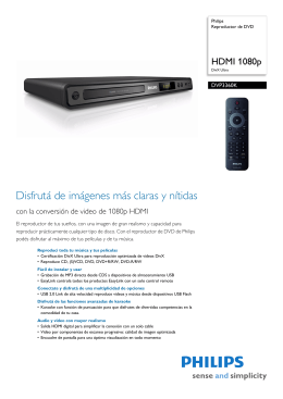 DVP3360K/55 Philips Reproductor de DVD