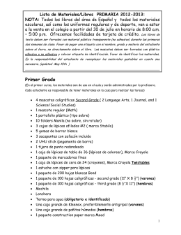 Lista de Libros y Materiales-PRIMARIA 2012