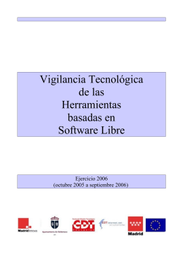 Vigilancia Tecnológica de las Herramientas basadas en