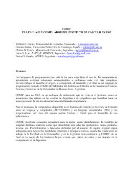 COMIC EL LENGUAJE Y COMPILADOR DEL INSTITUTO DE