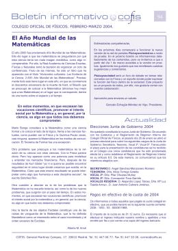 Boletín n.º 94 - Colegio Oficial de Físicos