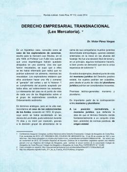 DERECHO EMPRESARIAL TRANSNACIONAL (Lex