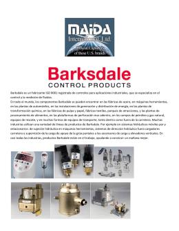 Barksdale es un fabricante ISO 9001 registrada de controles para