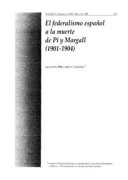 El federalismo español a la muerte de Pi y Margall (1901