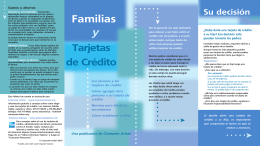 Families and Credit Cards (Spanish)