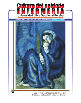 Revista Cultura del Cuidado - Universidad Libre Seccional Pereira