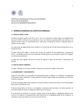 Normas Informes EIB. Aspectos formales