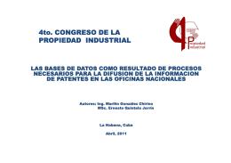 Conferencia - Oficina Cubana de la Propiedad Industrial
